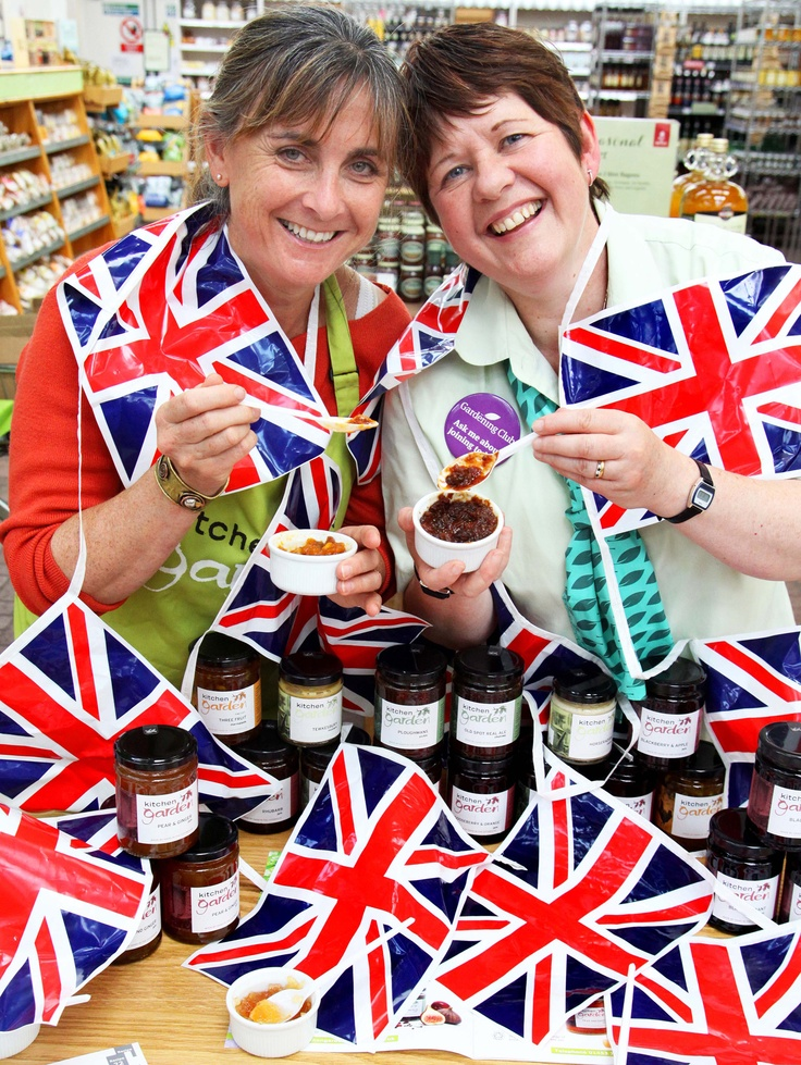 Getting into the jubilee spirit with Jane from Woodlands Garden Centre, Leicester during British Food Fortnight 2012