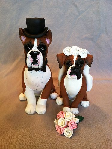 Wedding Cake Topper With Dog D