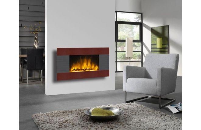 cette chemin e d corative lectrique donnera l 39 effet d 39 un vrai feu dans votre salon style. Black Bedroom Furniture Sets. Home Design Ideas