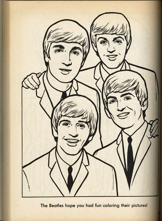 35 best Beatles Coloring Book images on Pinterest Coloring books