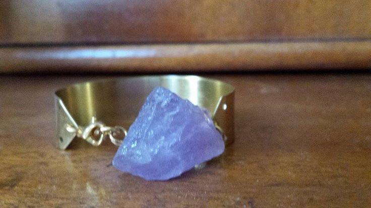 ON SALE Raw Amethyst Cuff Bracelet https://www.etsy.com/listing/198205457/on-sale-raw-amethyst-cuff-bracelet?ref=listing-0