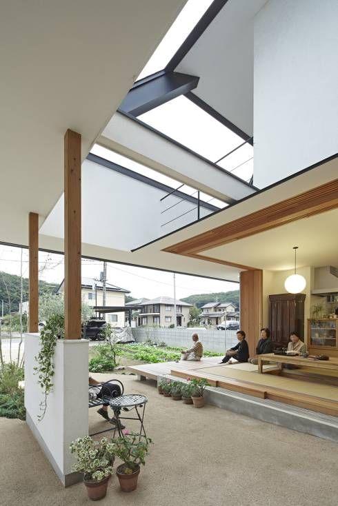 岩宿の家: arc-dが手掛けたモダンリビングです。