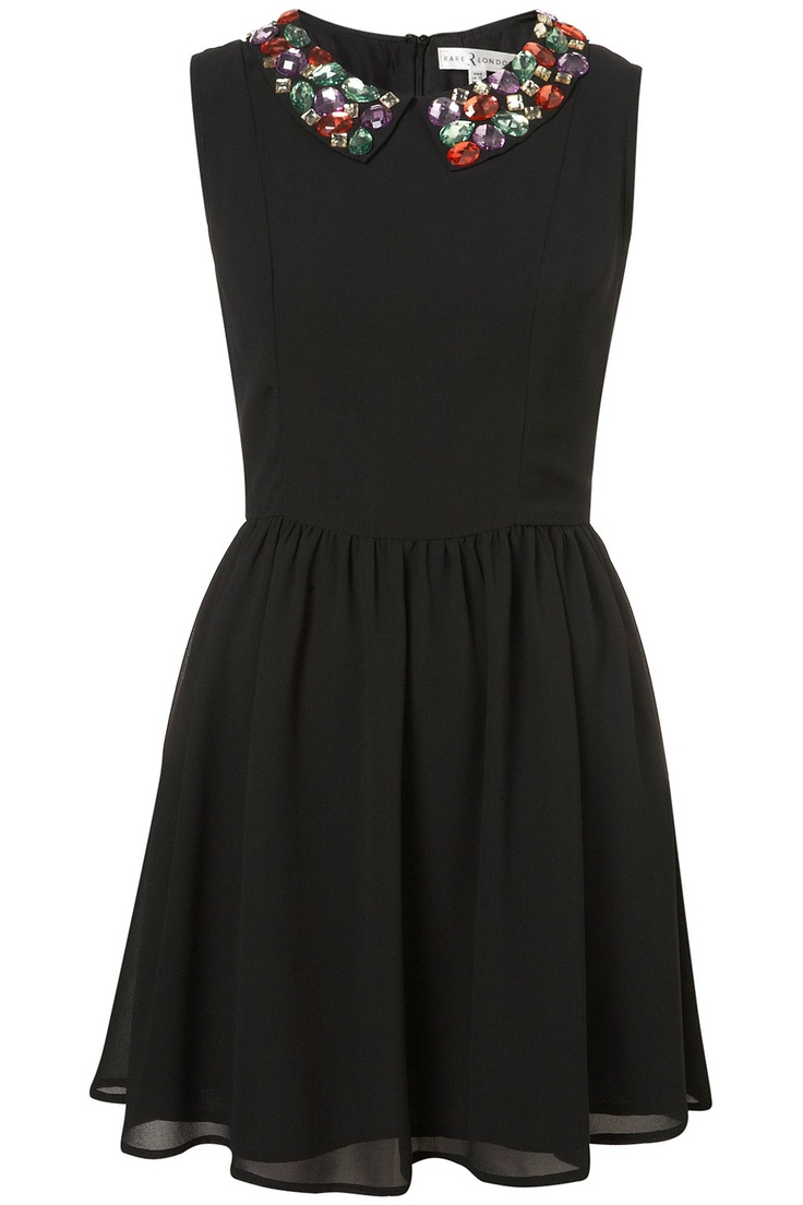 Jewel collar dress by Rare TopShop