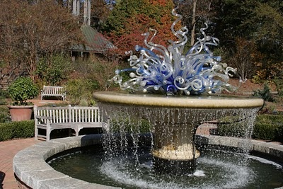 Elegant fountain; could inspire one to jump in, yes?