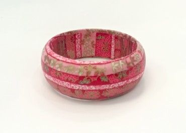 KAB Gallery | Pink & Red Ribbon Decoupage Bangle $24 incl GST - Easy domestic and international postage options at checkout!   LOVE LOVE LOVE these decoupage bangles!!!