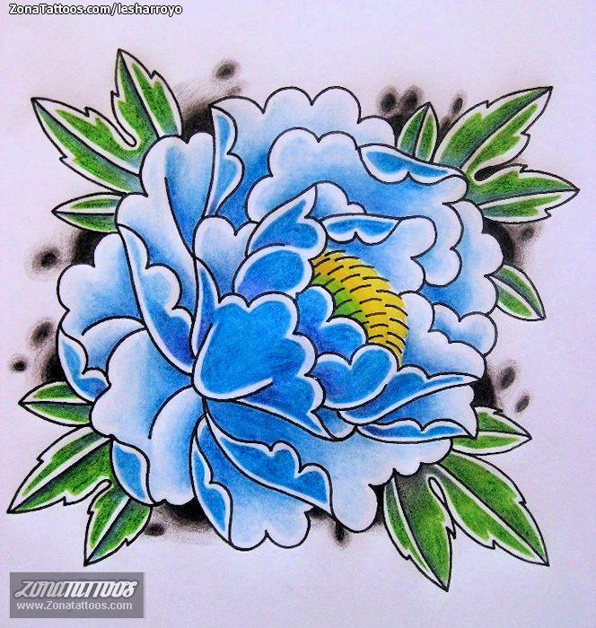 43 Japanese Peony Tattoos Collection: Diseño De Orientales, Flores, Peonías