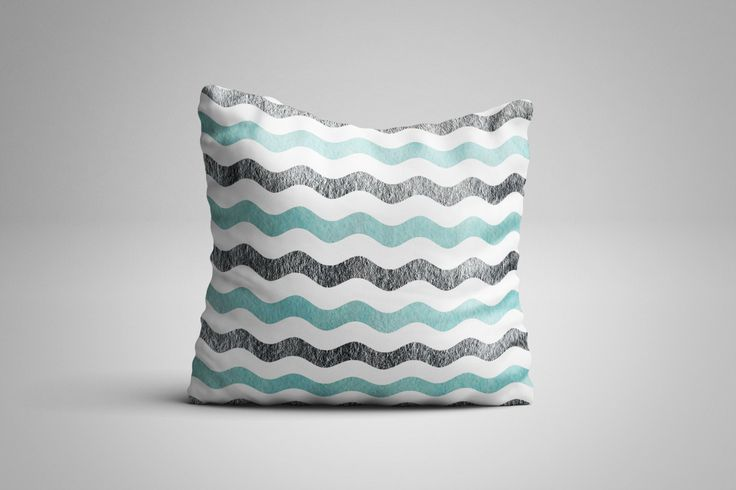 Waves Cushion. 12 x 12 inch Cushion by NJsBoutiqueCo on Etsy