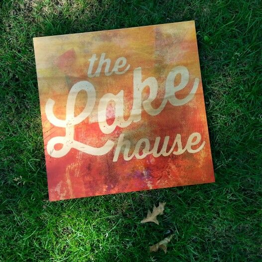 """Lakehouse print on 3/4"""" thick fir plywood"""