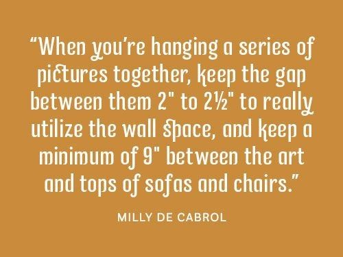 Pictures and art. #DesignTips #HomeDecor