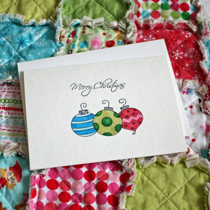 Handpainted Watercolor Christmas Card by AngelasExpressions