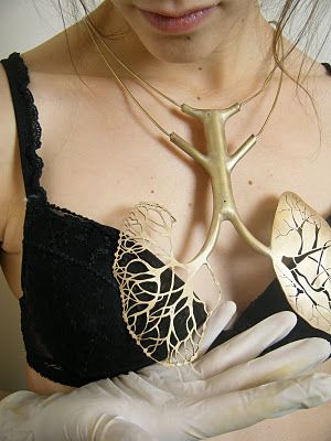 Lou Giesen lung necklace -- Paris-based artist designs accesories inspired by anatomy