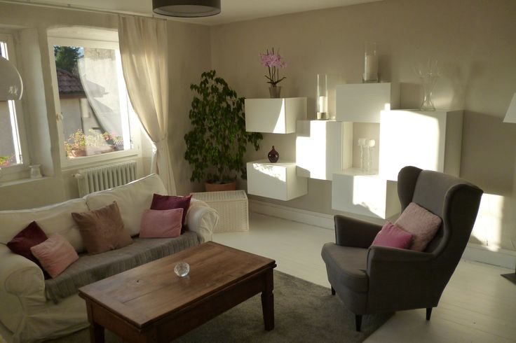 Salon Ikea Strandmon, besta, Ektorp, plancher peint blanc ikea - ikea einrichtung ektorp