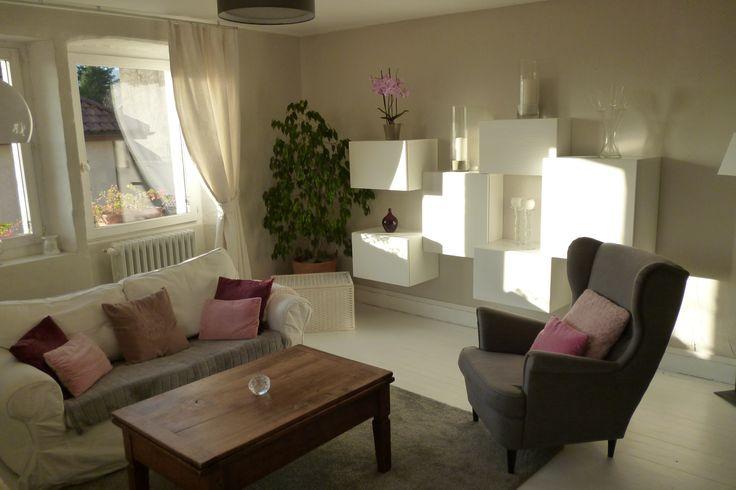 salon ikea strandmon besta ektorp plancher peint blanc ikea living room strandmon besta. Black Bedroom Furniture Sets. Home Design Ideas