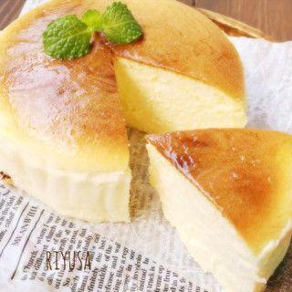 生クリ&バターなし❤️一瞬でとろける〜絶品スフレチーズケーキ