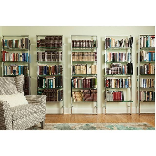 "Casual Family Room/Library! Modern yet warm and inviting. Love the airiness of these ""barely there"" bookcases. #familyroom #den #library #designelleinteriors #design #bookcases #bookshelves #modern #contemporary #cleanlined #inviting #warmth #familytime #ilanacohen #designer #interiordesign #interiordesigner #designelleinteriors"
