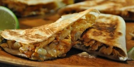 chicken chipotle quesadilla, spicy chicken with salsa and spicy cheese - See more at: http://www.kkcatering.co.uk/street-food-van-hire-street-fusion-weddings-events-parties/#sthash.rio9JbwC.dpuf