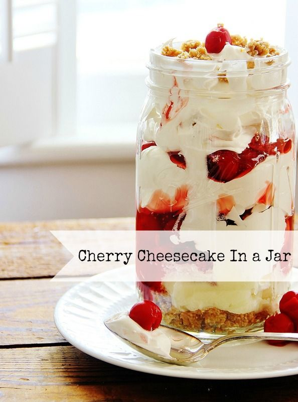 Recipes in a Jar:  Cherry Cheesecake