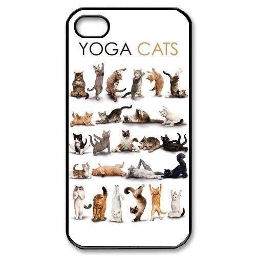 New 2016 Popular Yoga Cats Cute Interesting Design Cover Case Skin for iphone 4/4s/5/5s/5c/6/6s/6plus/6s plus