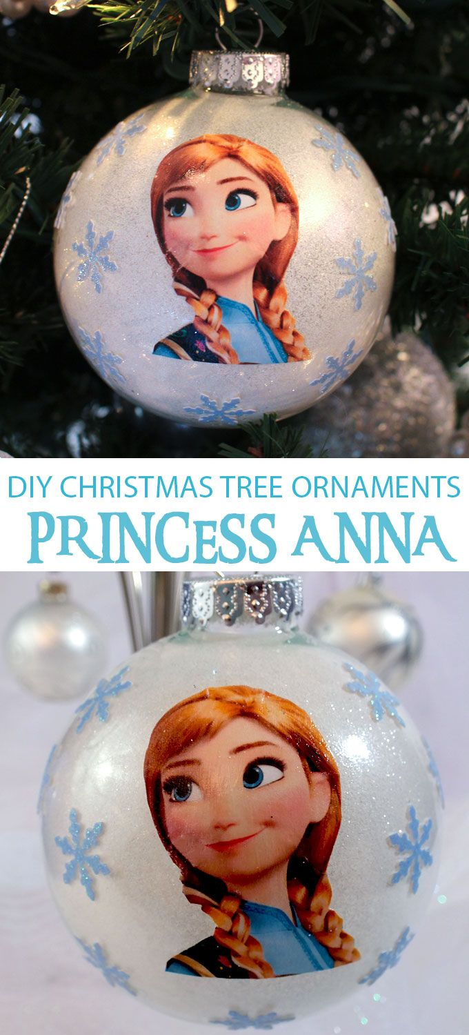 Do you have a Frozen fan in your family? Make them a DIY Anna Christmas Tree Ornament for this year's Christmas Tree. This is a fun and easy to make Frozen Christmas decoration that is sure to please. Follow us for fun Frozen ideas.