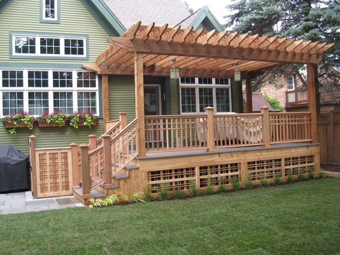 52 best deck skirting ideas images on pinterest deck for Garden decking examples