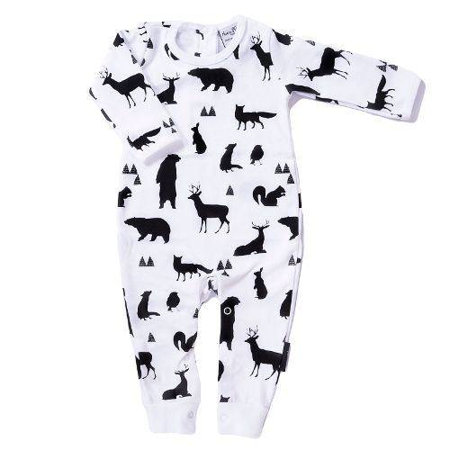 Woodland Silhouette Romper Coverall woodland silhouette romper organic baby clothes online