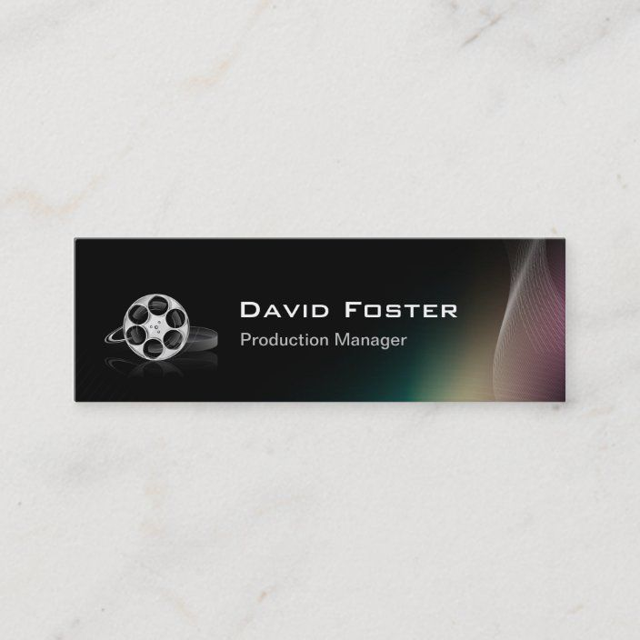 Film Production Manager Director Producer Cutter Mini Business Card Zazzle Com Mini Business Card Business Film Production