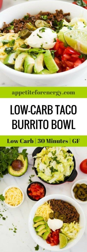 Burritos or tacos are an excellent choice if the rest of your family eat carbs.They are ready in 30 minutes with only 10g net carbs per serve. FOLLOW us for more 30 Minute Recipes. PIN & CLICK through to get the recipe. Ketogenic taco recipe | Keto diet recipes | 30 Minute low-carb diet recipe |Taco Tuesday | Atkins Diet| Banting | Beef Tacos | Gluten Free Tacos | Low-carb burrito bowl| how to make a taco bowl