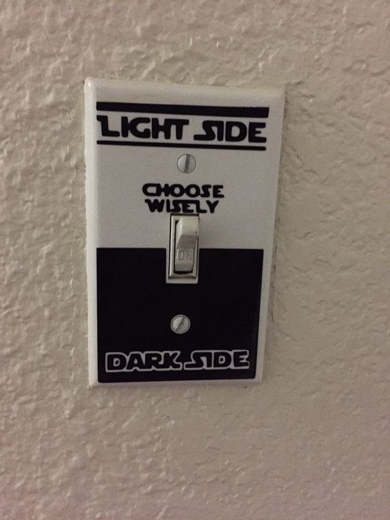 Are you raising a little Jedi? Or is one of the adults in your house a big Star Wars fan? If so, this Star Wars light switch decal is a must have! It