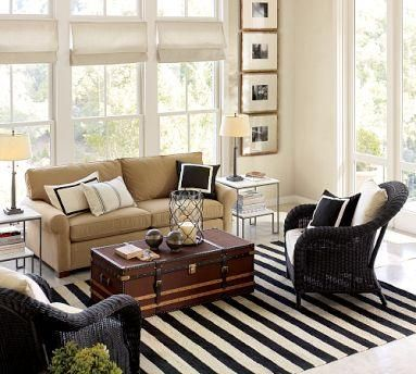 Love The Look Of This Living Room With The Striped Rug And Cedar Chest   I Part 35