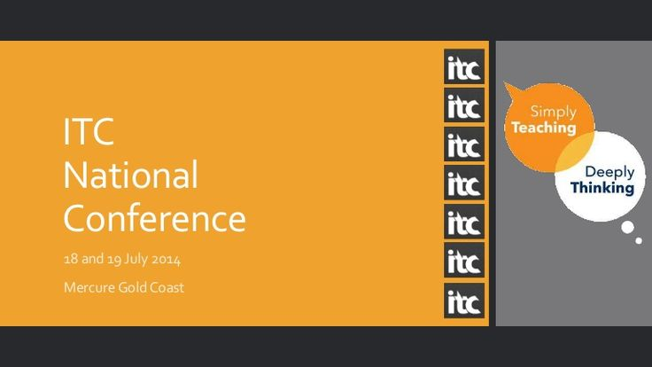 ITC Conference 18 and 19 July 2014 #itcconference by itcpublications