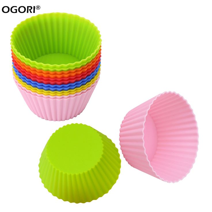 12 Silicone Cupcake Liners