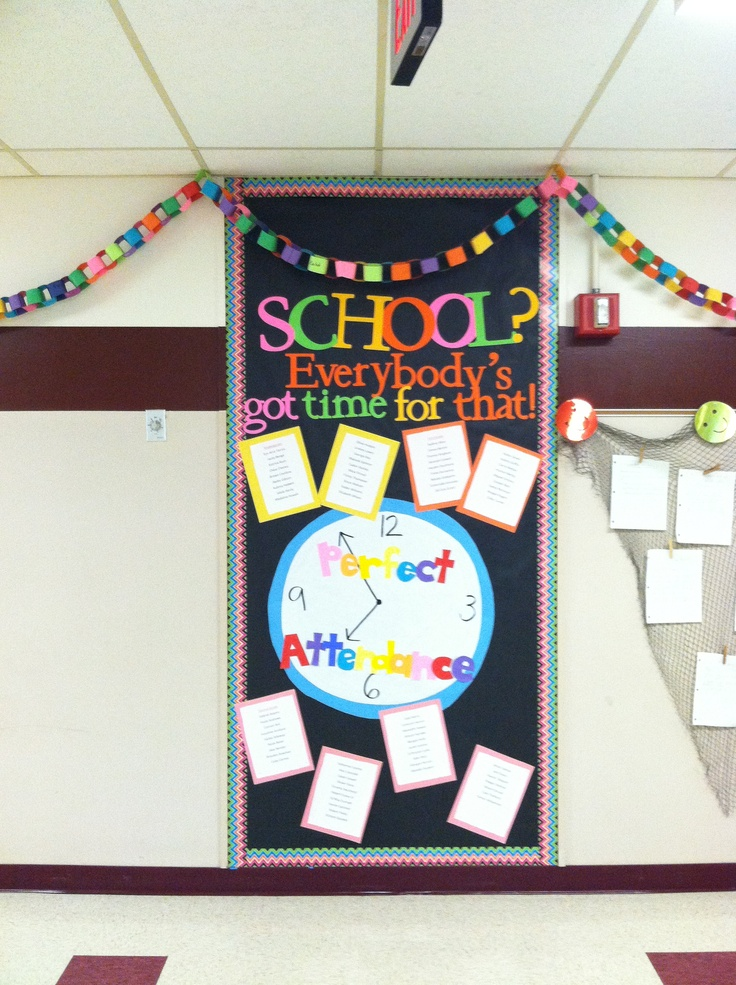 Perfect attendance board. Bright, colorful, and sends a very powerful message!