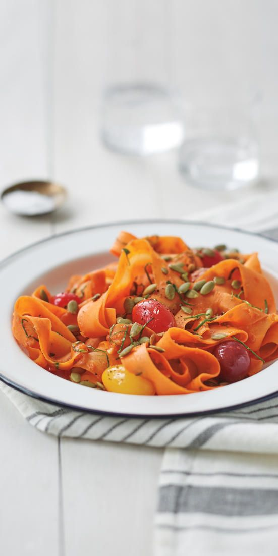 """Coastal Carrot """"Fettuccine""""  - You can be a vegetarian while still enjoying a filling meal. Here are 43 mouthwatering and meat-free recipes we love."""