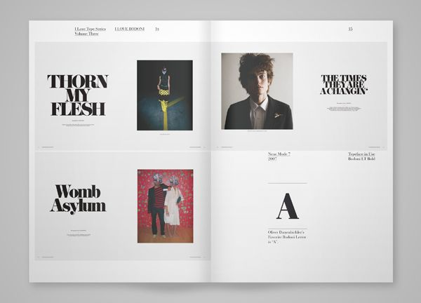 I Love Bodoni by TwoPoints.Net , via Behance