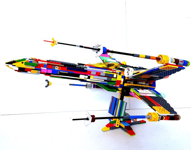 LEGO UCS X-Wing Fighter Custom Psychedelic Model by SeanWalesArt on Etsy