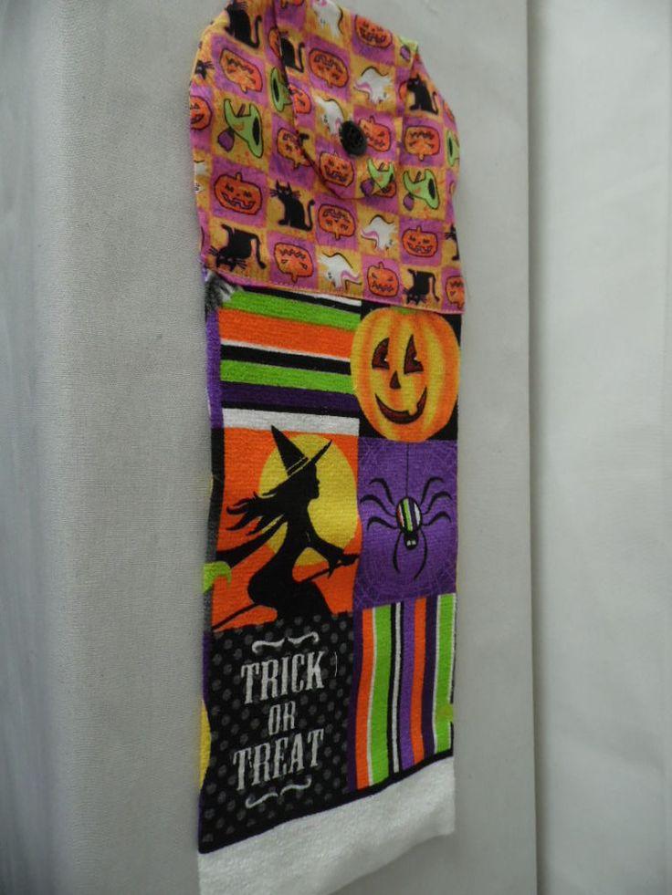 SALE! SALE! Set of 3 Halloween Oven Hanging Towels SALE! SALE! #handmade