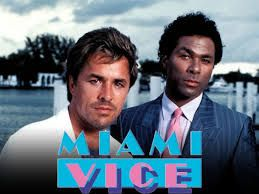 Miami Vice was a popular TV show  about detectives of the Miami Police Department.  The show won 2 Golden Globes, an Emmy, and more.   It aired from 1984-1990.