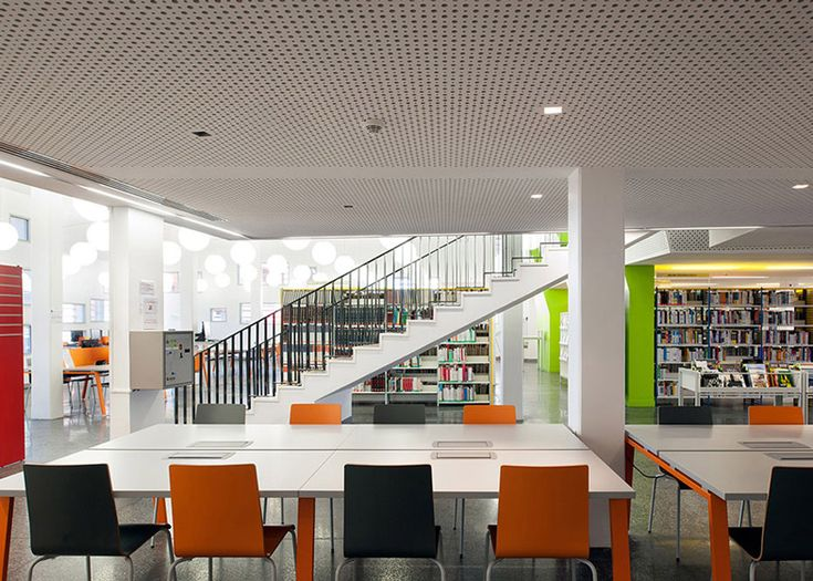 University Library By RH Architecture Encased Within A Timber Lattice Modern LibraryInterior Design
