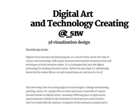 Digital Art and Technology Creating Beauty