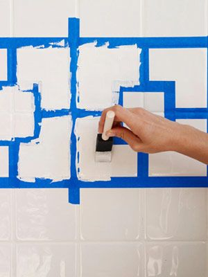 How to Paint Ceramic Tile - DIY Painting Bathroom Tile - good to know!