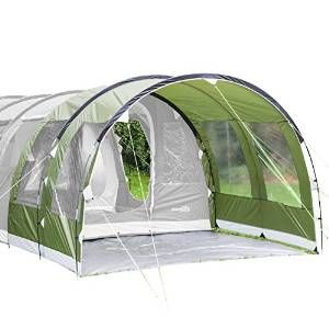 Skandika Canopy Gotland 4 Tenda-Veranda 310 X 210 X 210 Cm Verde Nuova Pratica tenda veranda per la Gotland 4 Un ulteriore protezione dalle intemperie per l'entrata della tenda Colonna d'acqua 5.000 mm Grandi finestre laterali ltezza di picco di 2,10 cm