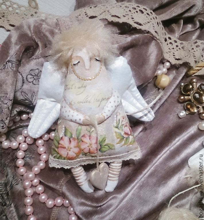 Время ангелов...шебби - кремовый,ангел,украшения ручной работы,елочные игрушки