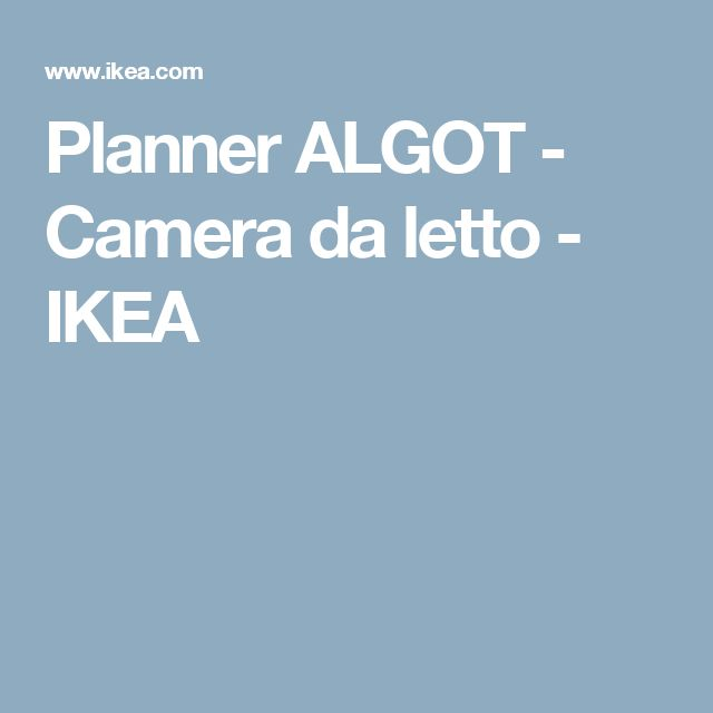 Oltre 25 fantastiche idee su mobili ikea su pinterest ikea hack e toletta - Planner ikea camera da letto ...