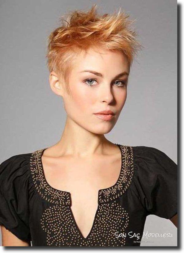Patlamalı kısa saçlı dudak saç modelleri (fotoğraf)