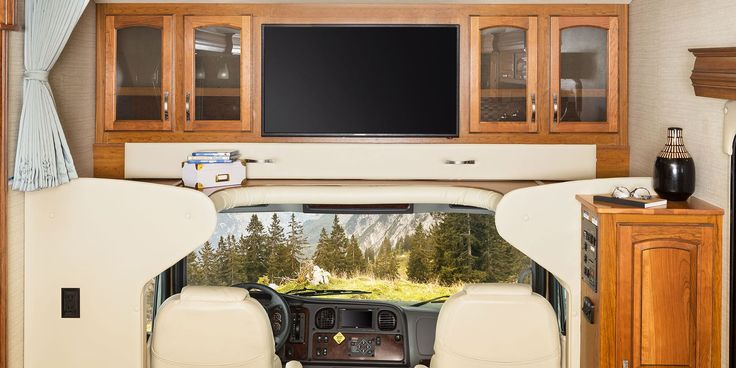 Flexible sleeping arrangementsAll Seneca Class C motorhomes come standard with a full cab-over bunk rated at 750 pounds. You also have the option of a front entertainment center with an LED TV (std. on 37HJ).