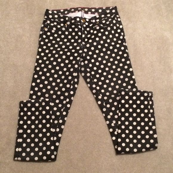 Kate spade Black & White Polkadot Skinnies Adorable Kate spade Black & White Polkadot Skinnies Factory Faded For That Worn In Comfy Look & Feel. NO TRADES NO HOLDS I IGNORE LOWBALLERS kate spade Jeans Skinny