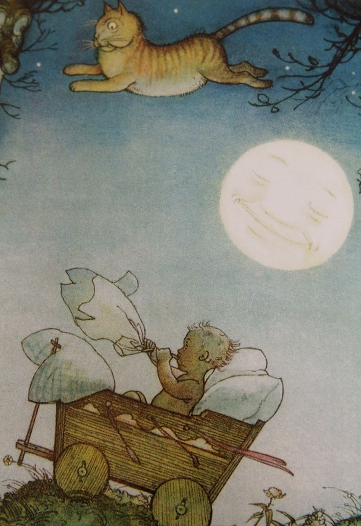 Illustration by Else Wenz-Vietor  from 'Der kleine Häwelmann' by Theodor Storm