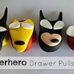 DIY Superhero Drawer Pulls. So cute for a little boys room