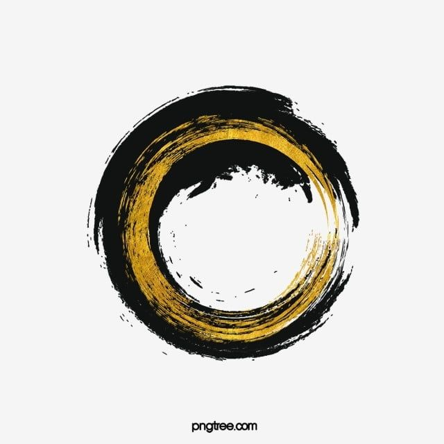 Abstract Black Luxury Gold Ink Calligraphy Brush Round Border Brush Frame Round Png Transparent Clipart Image And Psd File For Free Download Gold Ink Brush Calligraphy Black And Gold Marble