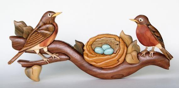 Robin Intarsia